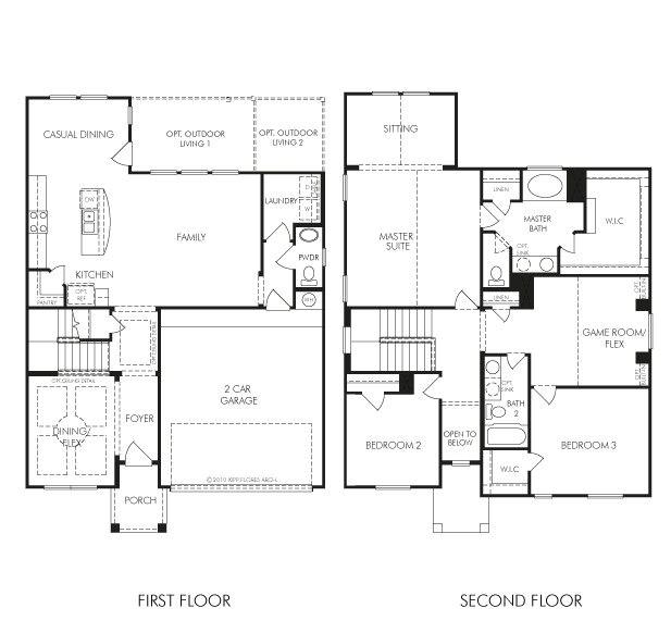 meritage homes floor plans