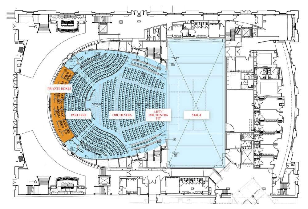 opera house floor plan
