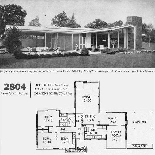 mid century modern floor plans