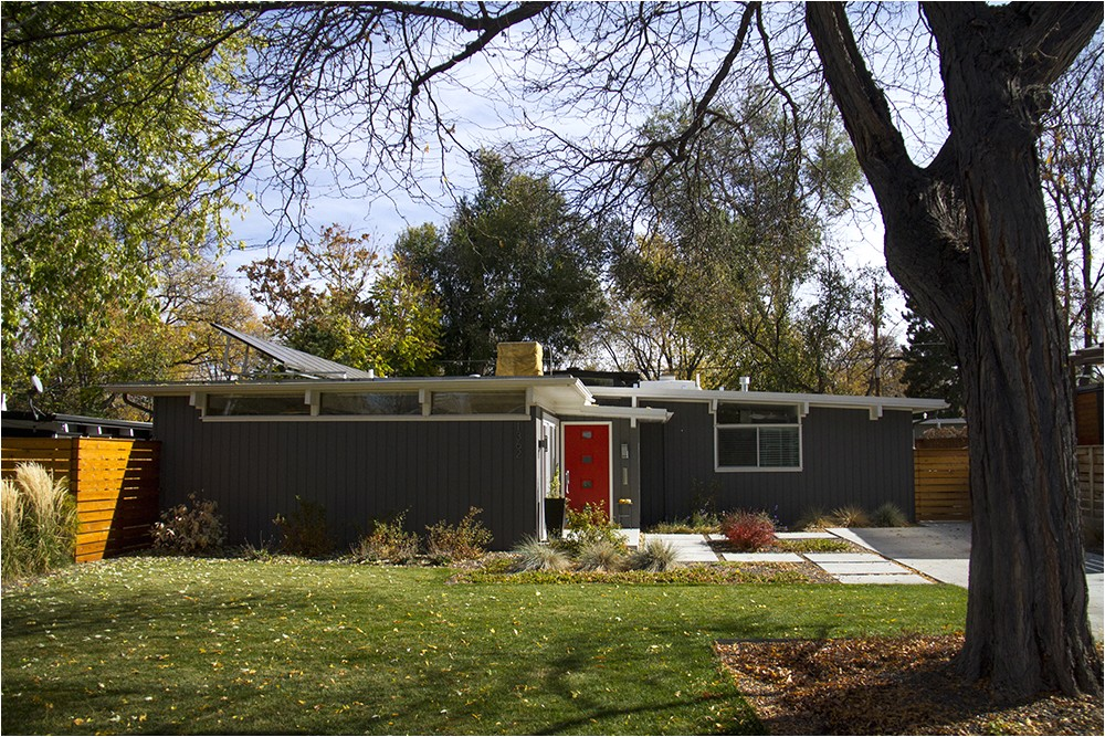 mid century modern homes floor plans and paint