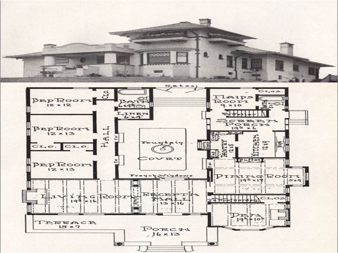 caa19951a2641d43 mission style house plans mission style house plans with courtyard