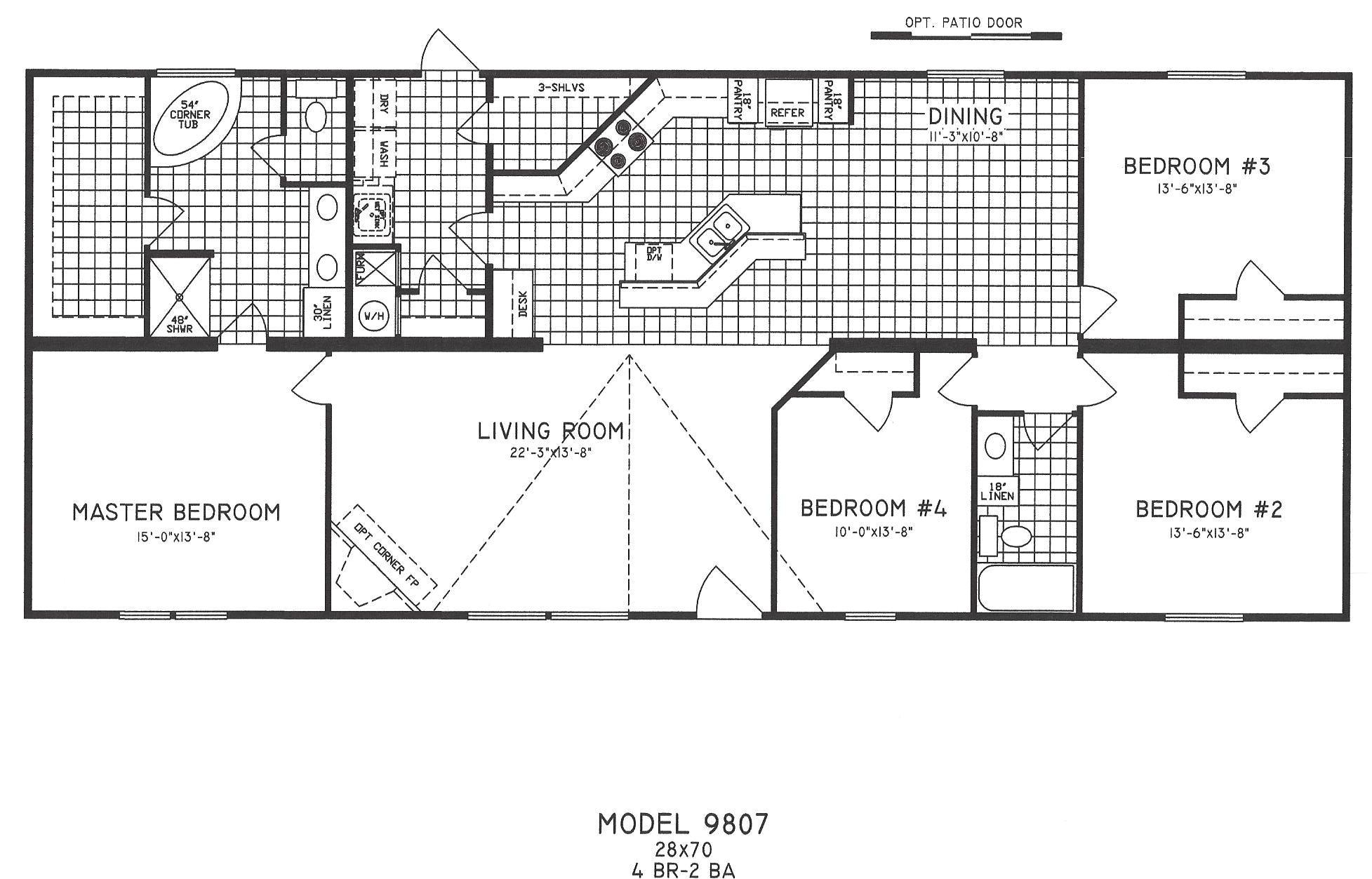 4 bedroom floor plan c 9807