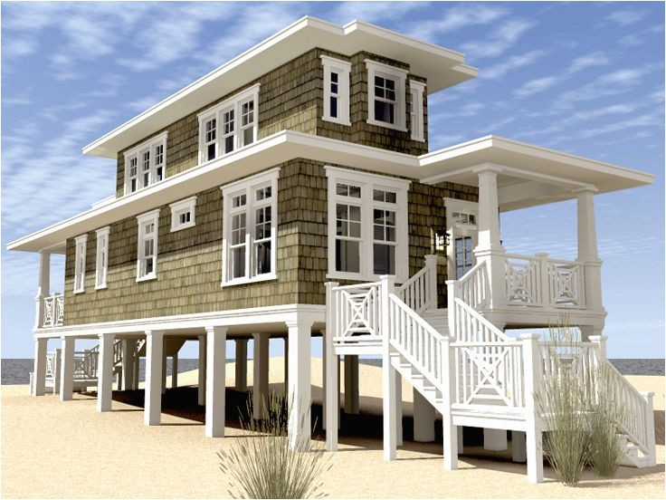 modern beach house plans on stilts