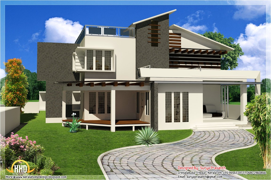 Modern Contemporary Home Plans New Contemporary Mix Modern Home Designs Kerala Home