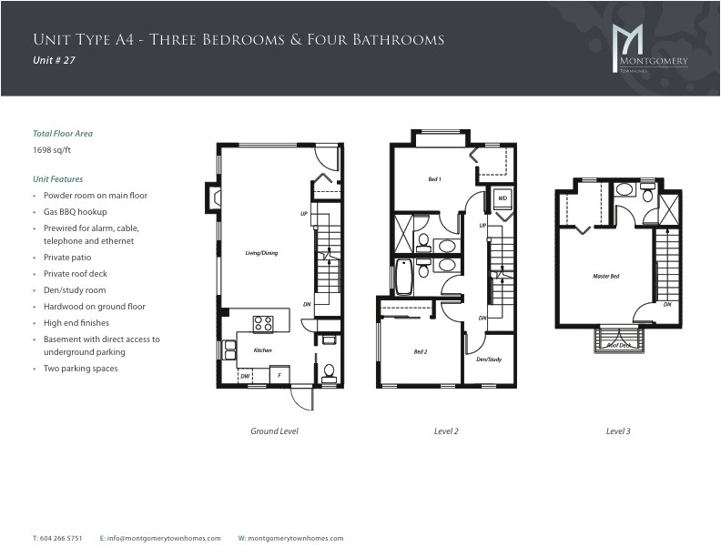 montgomery townhomes floor plan a4