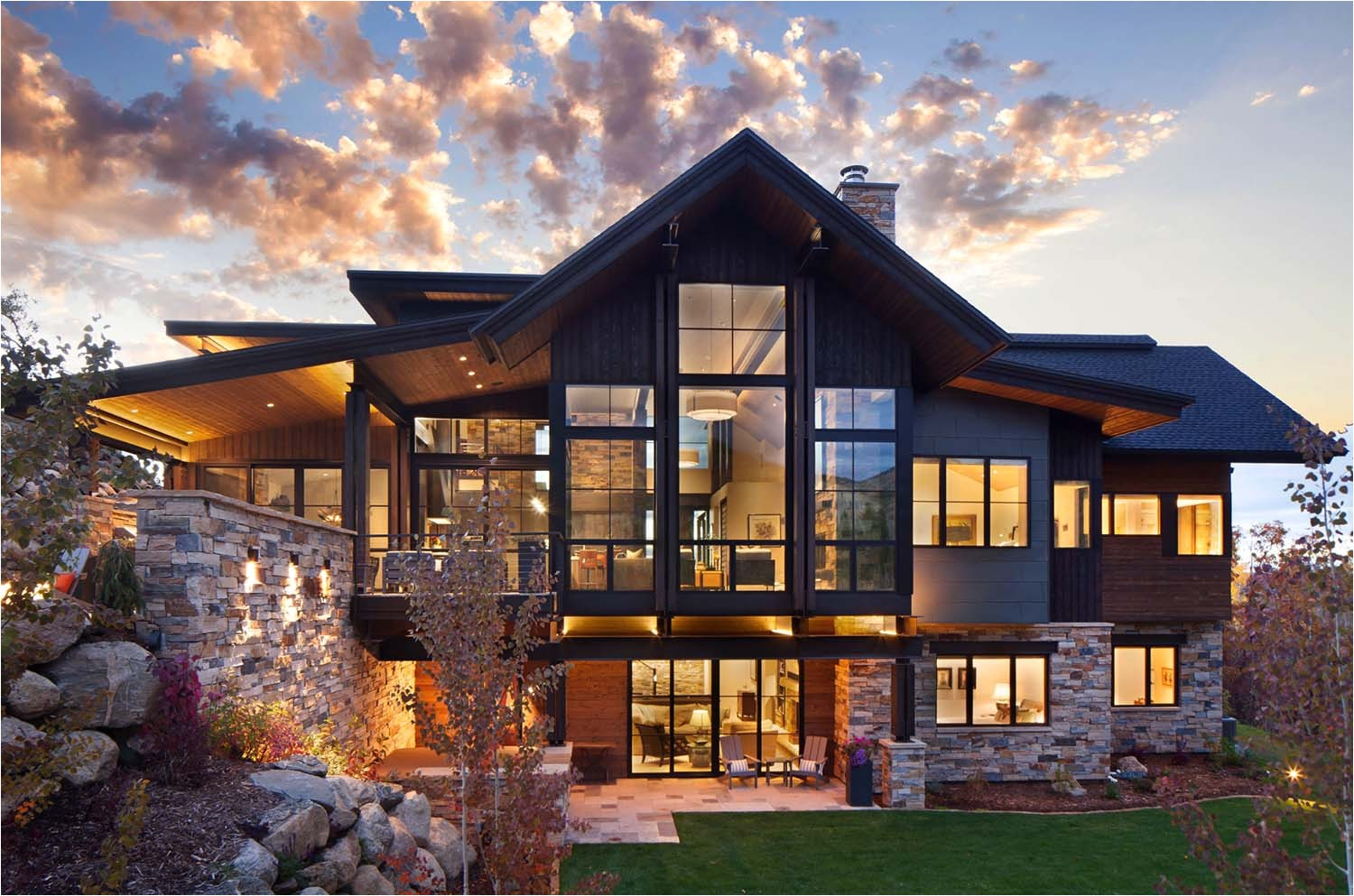 contemporary mountain home