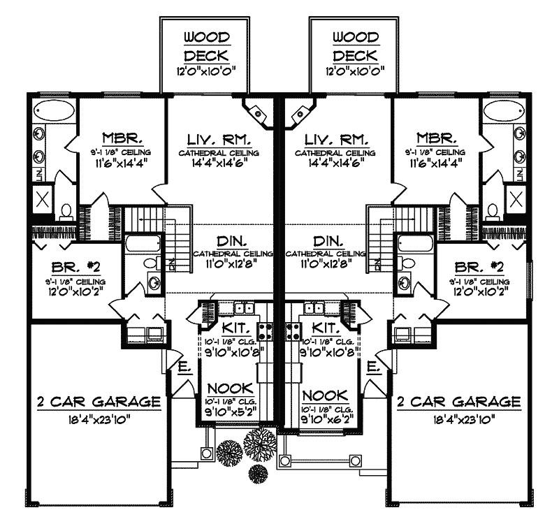 marvelous multi family home plans 11 multi family house floor plans