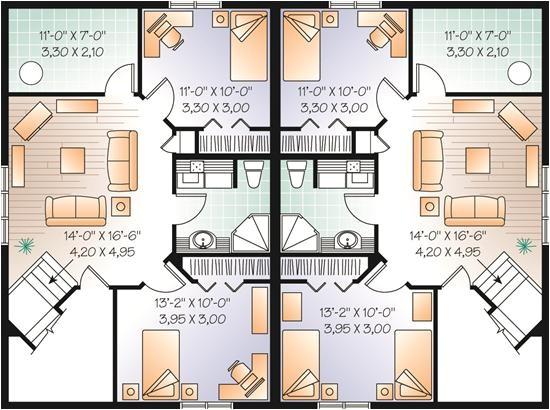 multi unit house plans