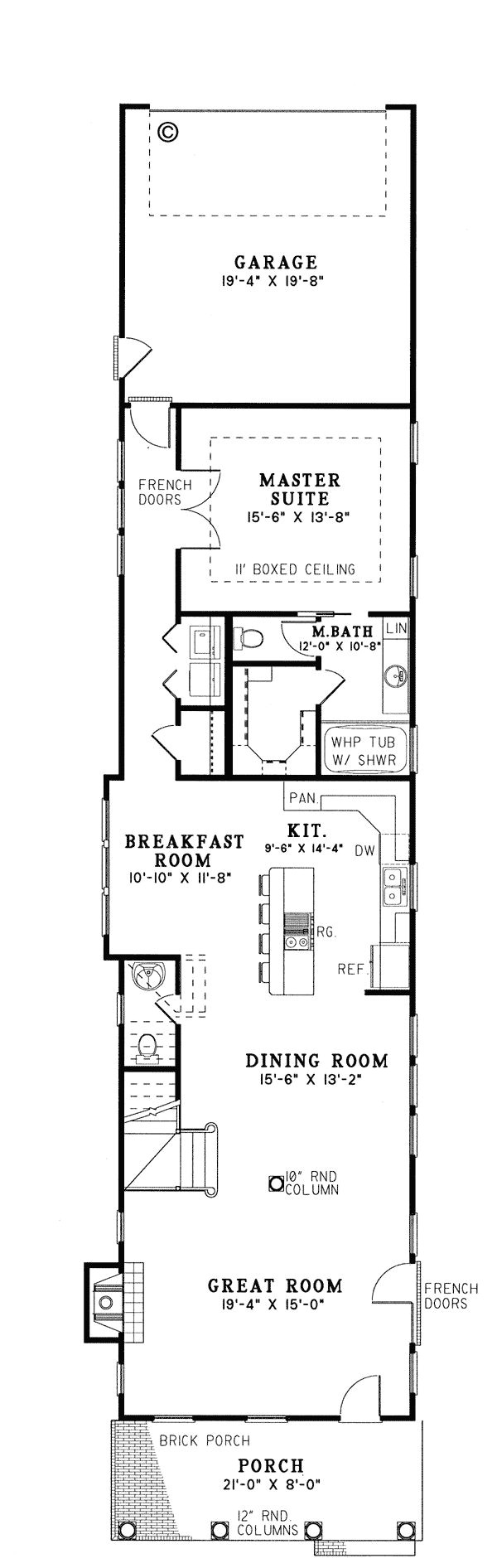 narrow house plans