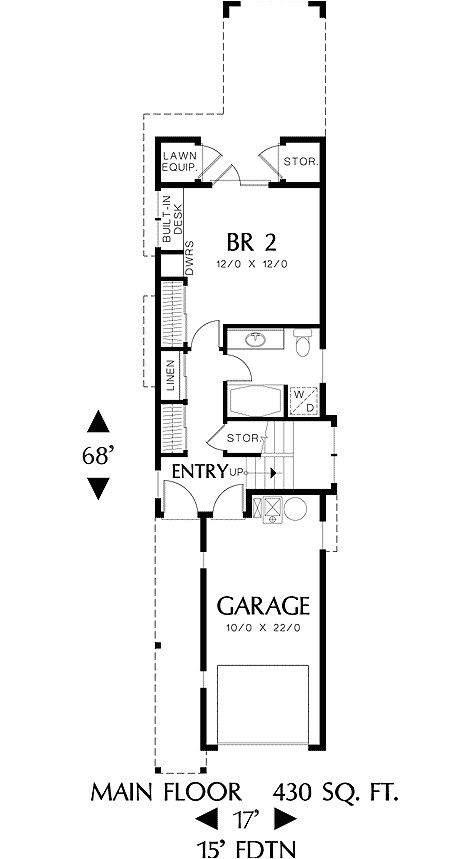 narrow home plans