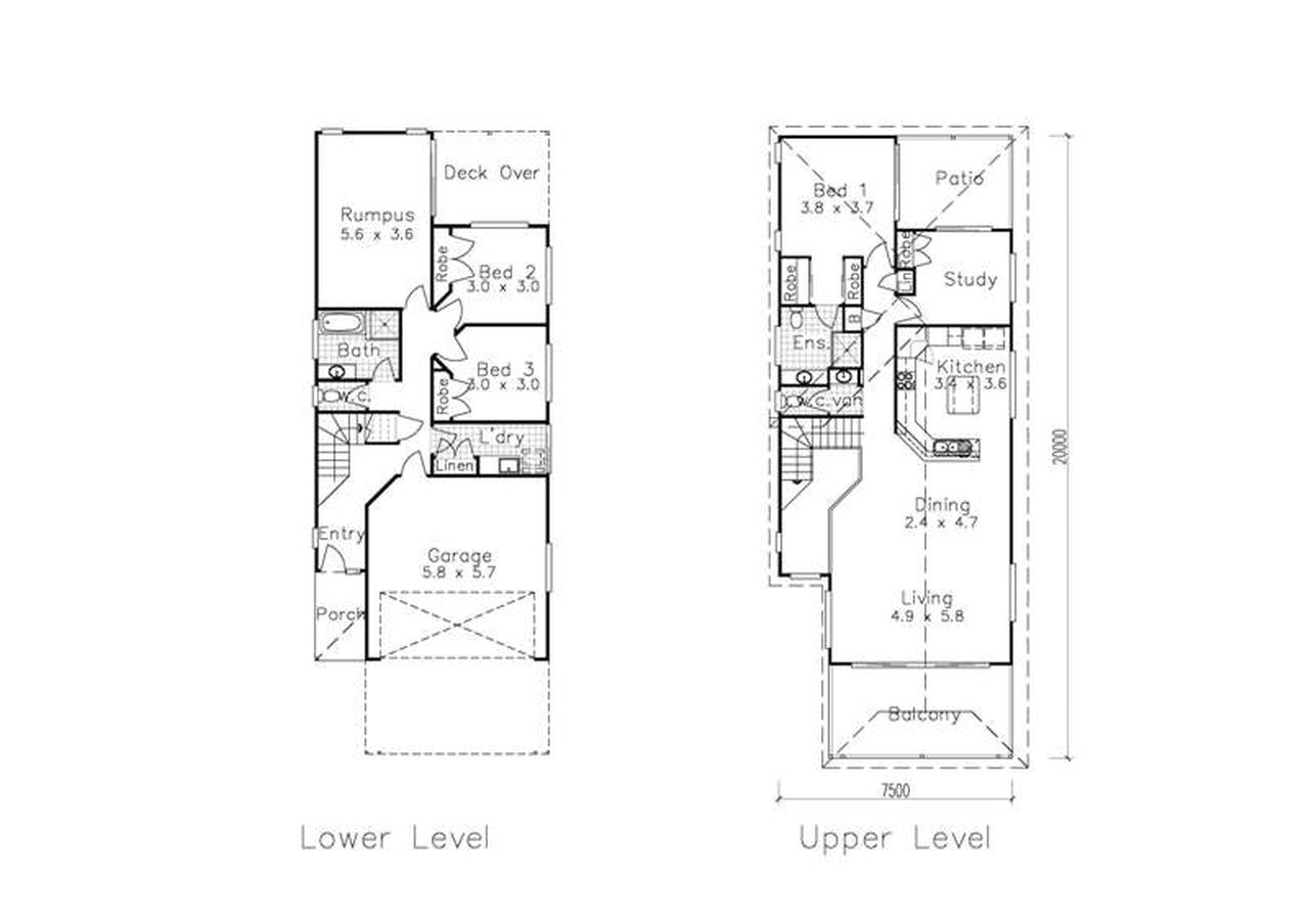narrow modern house plans