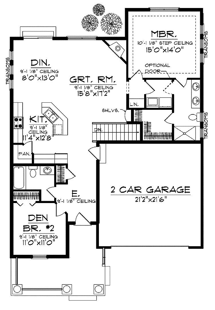 house plans for narrow lots with basement