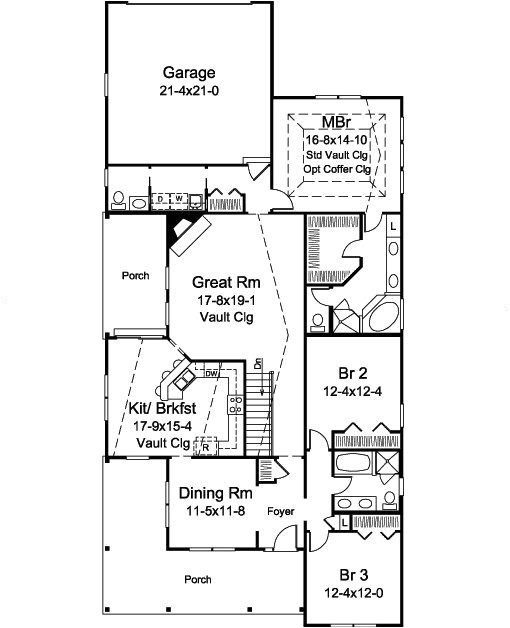 narrow lot house plans with rear entry garage