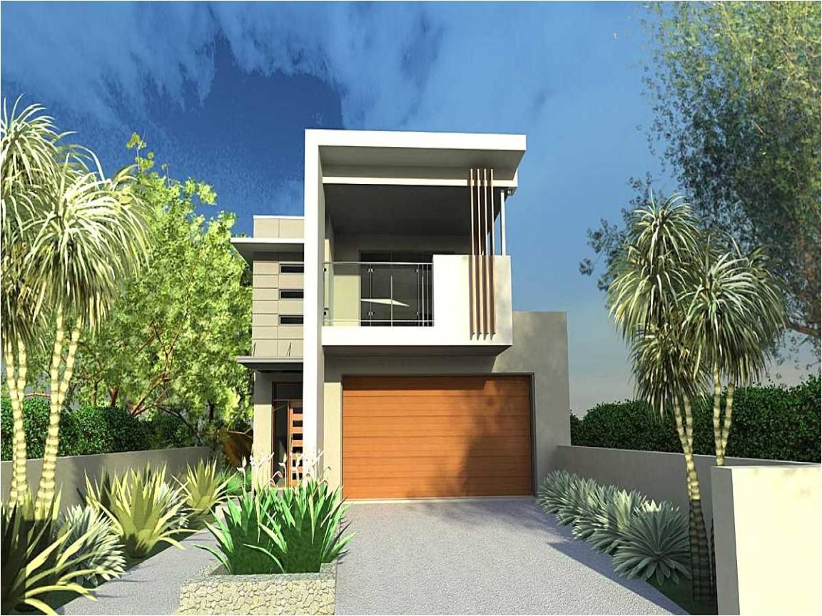 narrow lot modern house plan mean