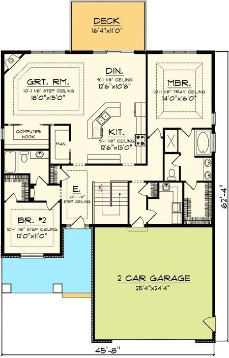 narrow lot house plans with side garage