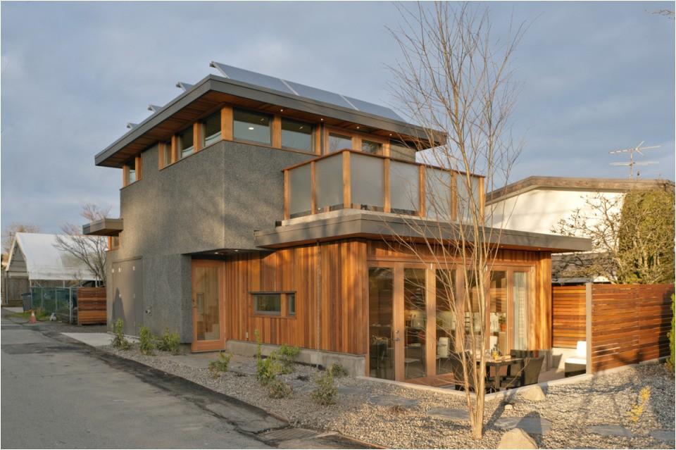 net zero solar laneway house by lanefab