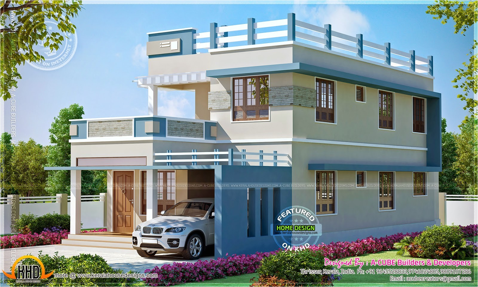 square feet new home design kerala floor plans 3
