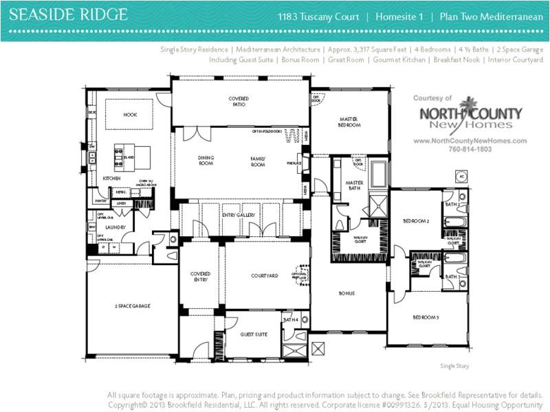 floor plan 2 at seaside ridge in encinitas