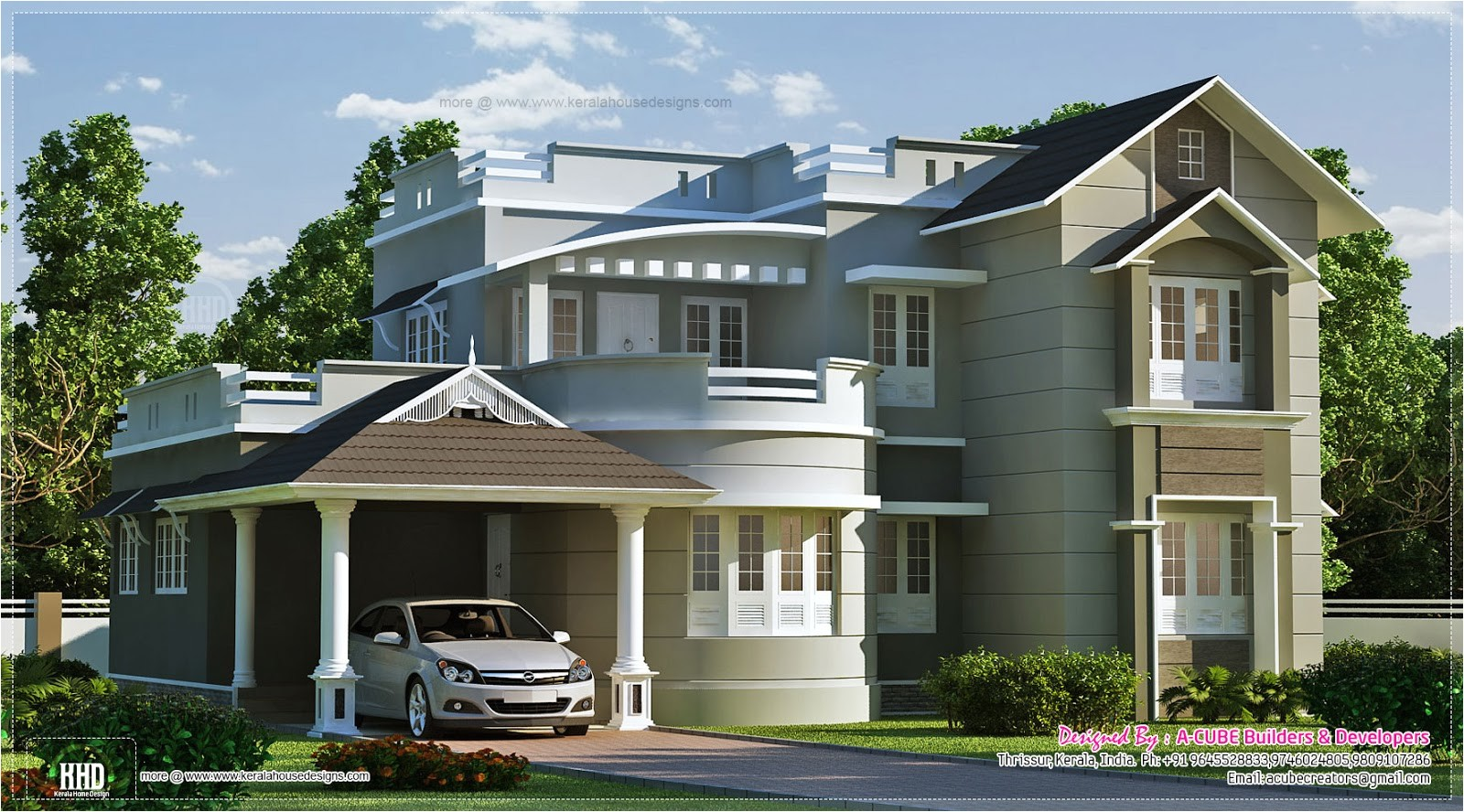 New Home Plans New Style Home Exterior In 1800 Sq Feet Kerala Home