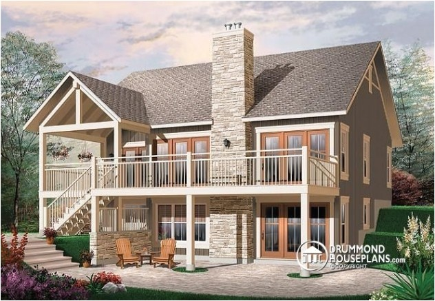 luxury small home plans with walkout basement