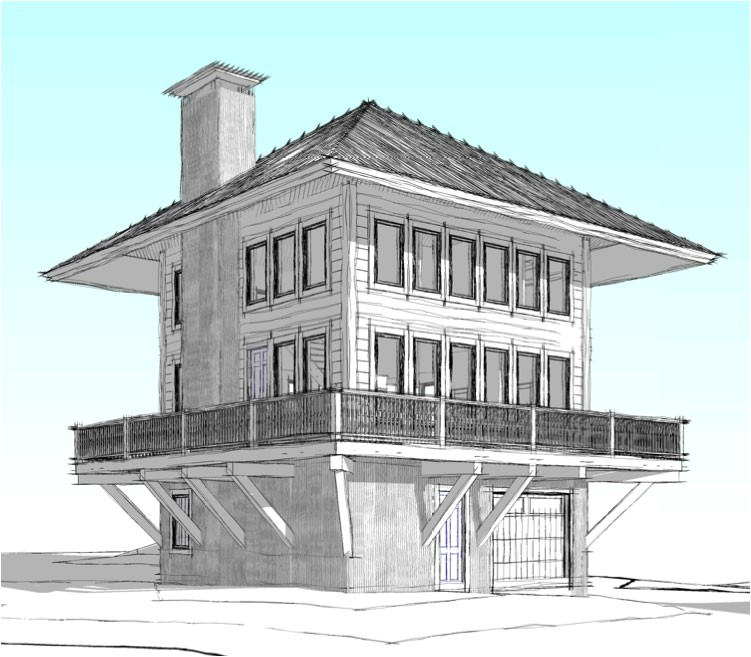observation tower house plans