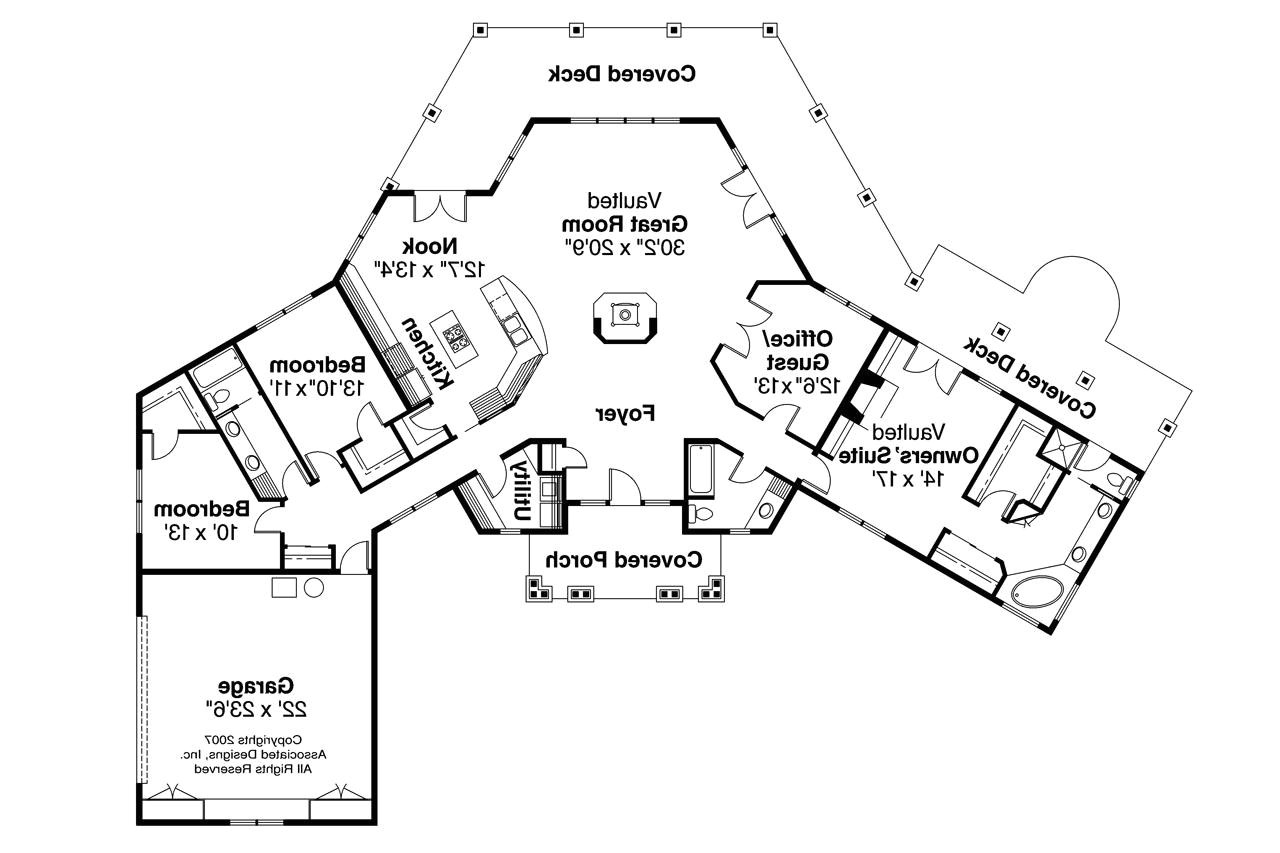 Ocean View Home Plans Craftsman House Plans Oceanview 10 258 associated Designs