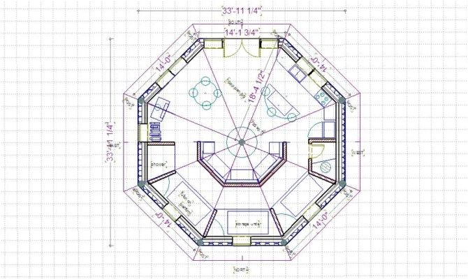 15 harmonious octagon shaped house plans
