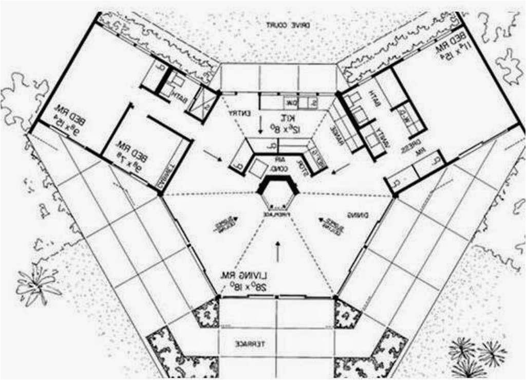 octagon earth ship style house