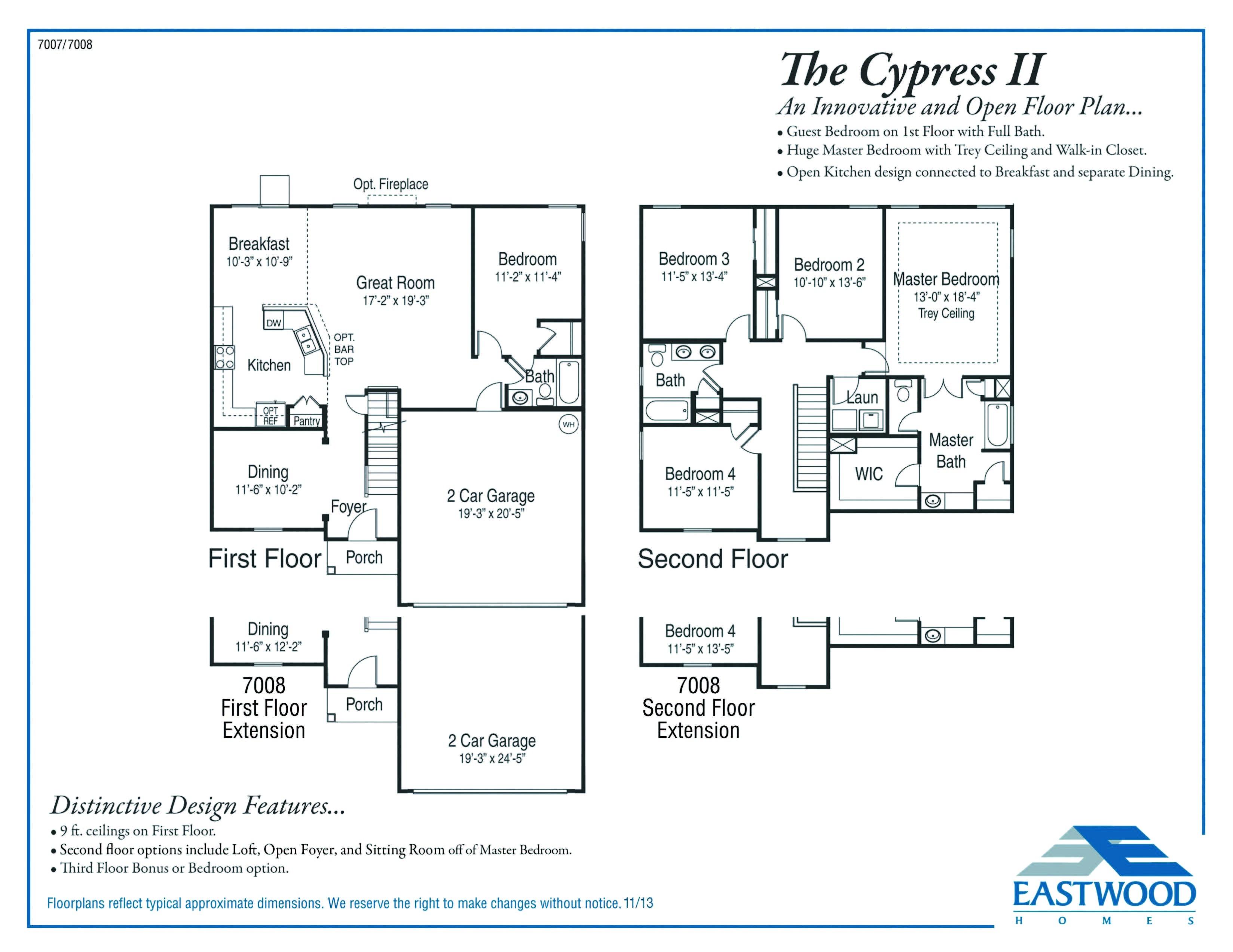 old ryland homes floor plans