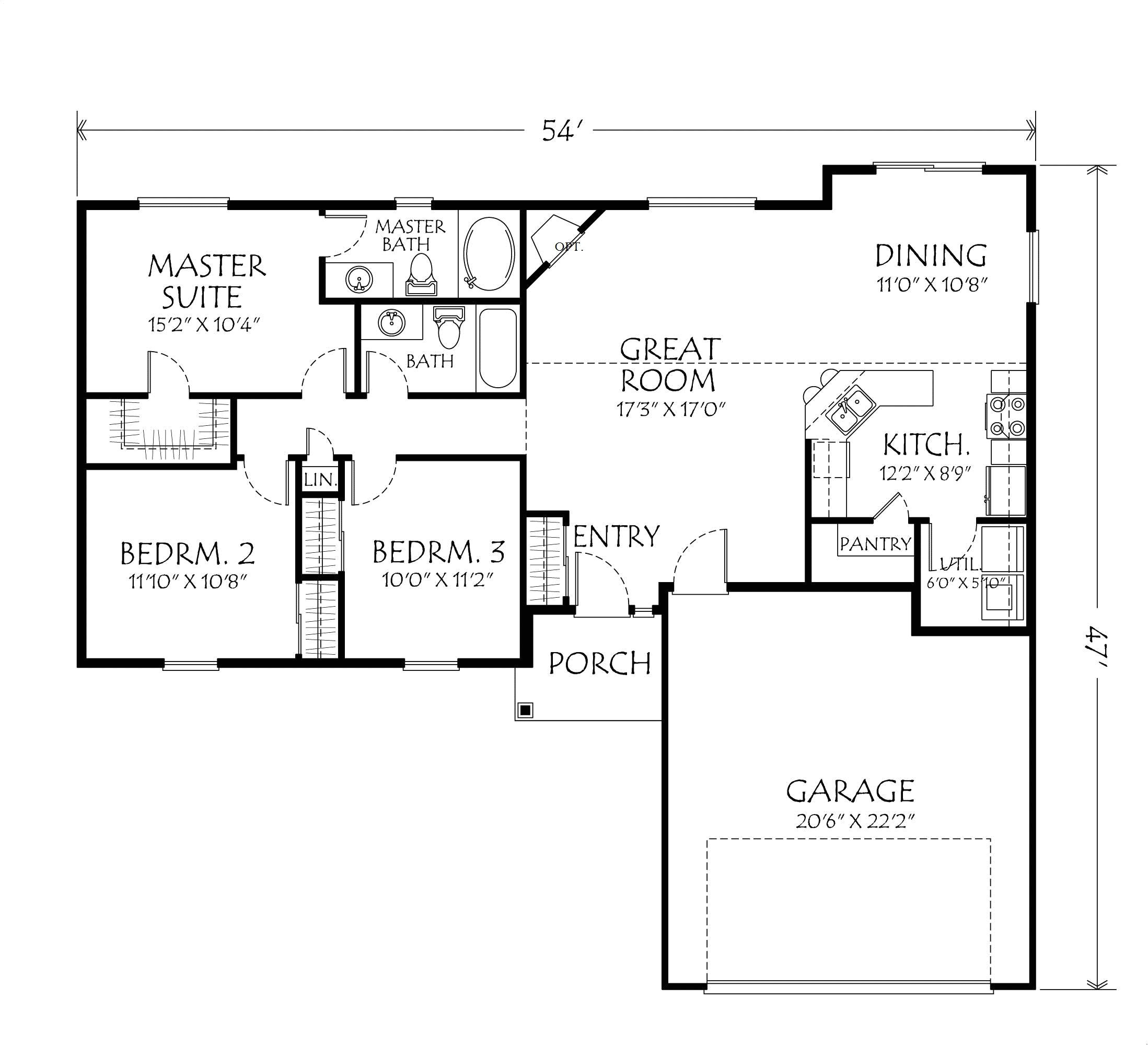small house plans one level