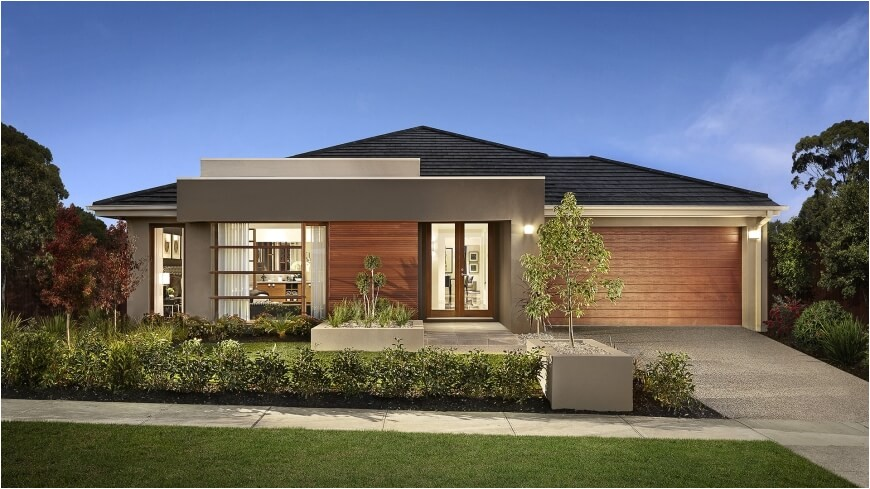 one story house designs modern facade models and plans ideas