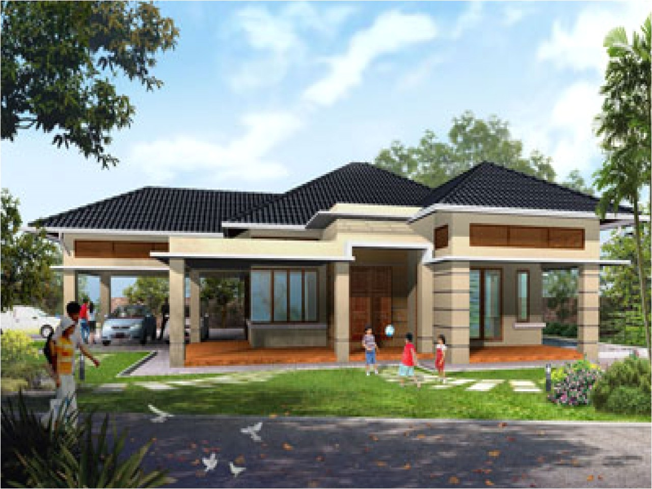 modern contemporary single story house plans