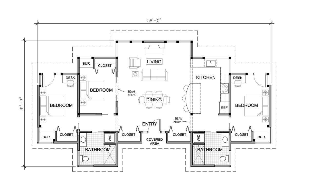 One Story Home Plan 3 Bedroom House Plans One Story Marceladick Com
