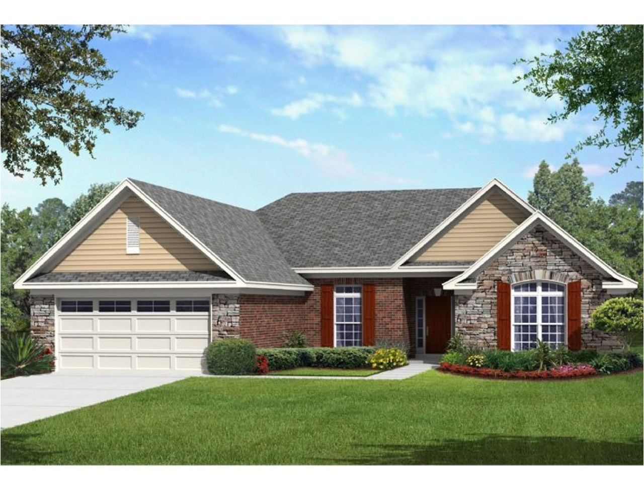7eca8c924a3221e3 one story chalet best one story house plans