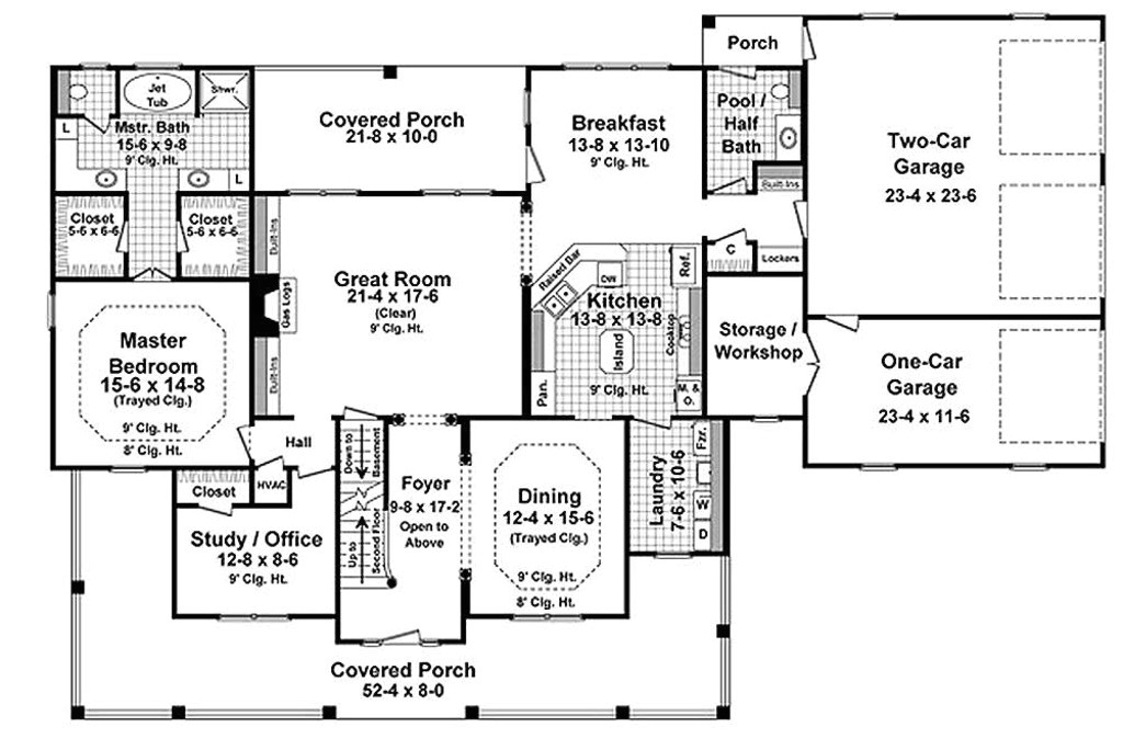 3000 square feet 4 bedrooms 3 5 bathroom country house plans 3 garage 33175