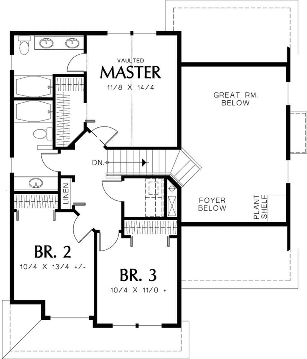 two story house plans under 1600 square feet