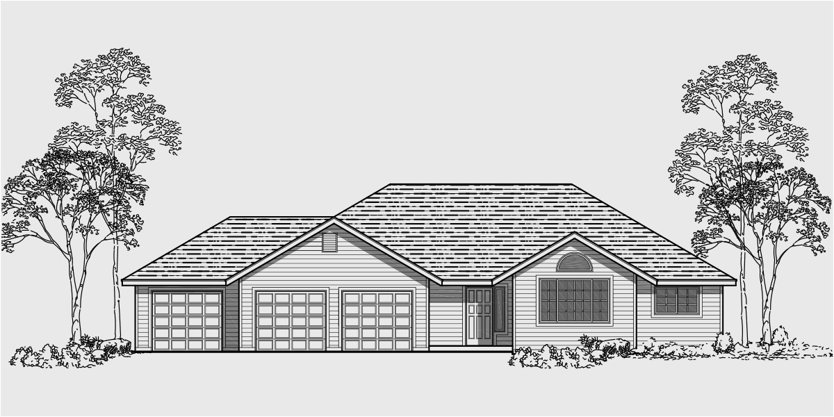 One Story House Plans with 3 Car Garage One Story House Plans 3 Car Garage House Plans 3 Bedroom