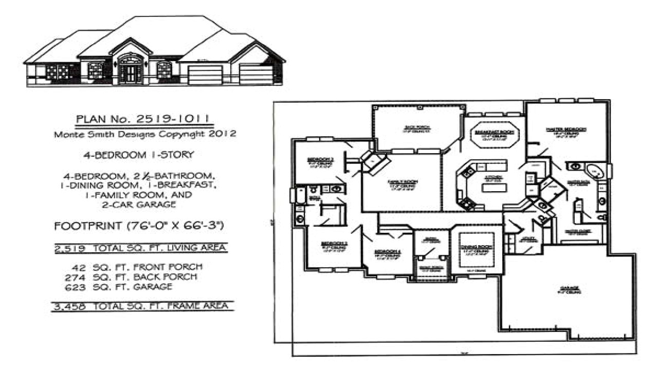 e2727574417f7d8f 1 story house plans with 4 bedrooms one story house plans with large kitchens