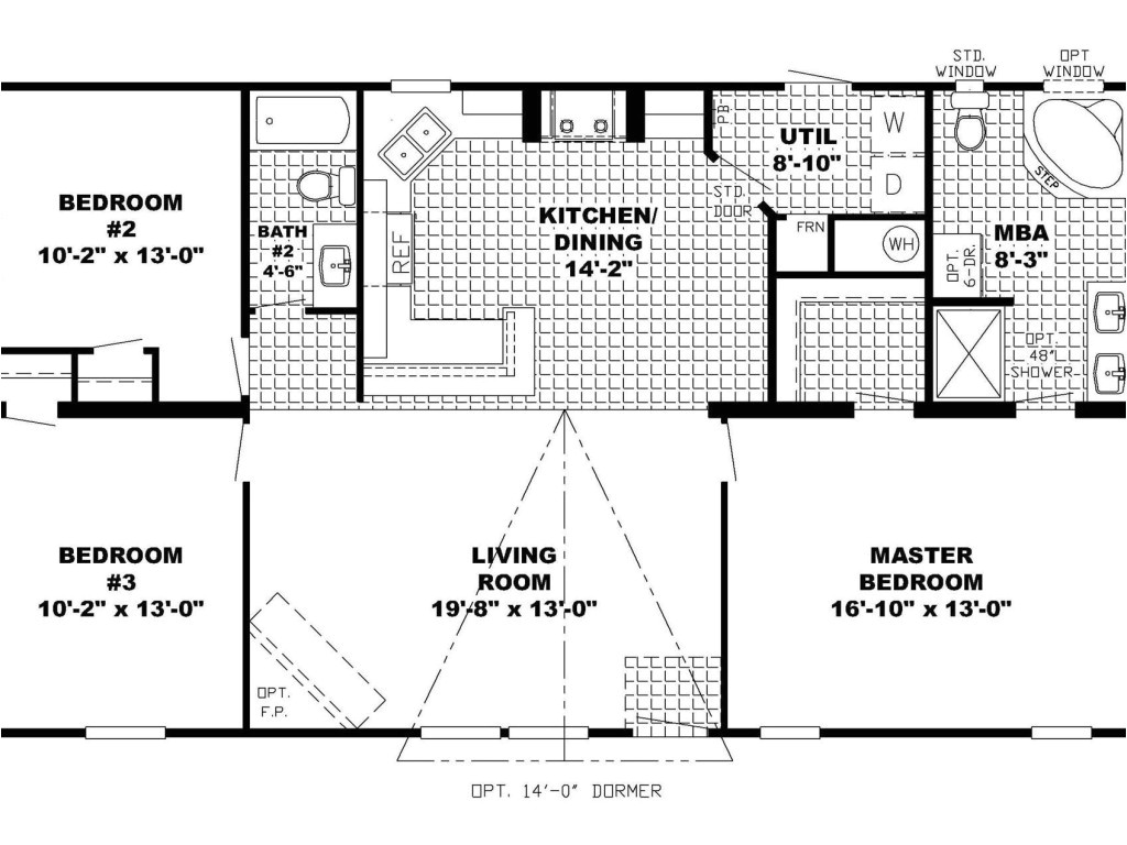 open floor plan ranch house plans