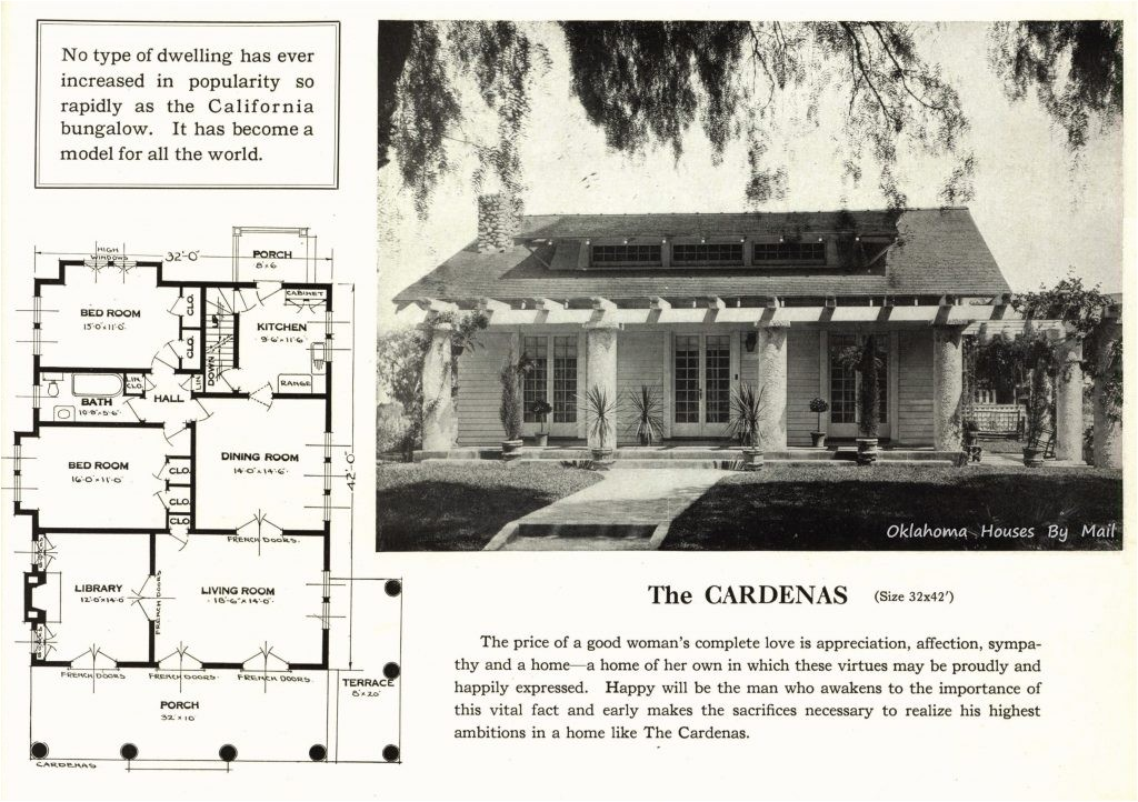 original craftsman house plans inspirational a popular california bungalow pattern used by sears modern homes