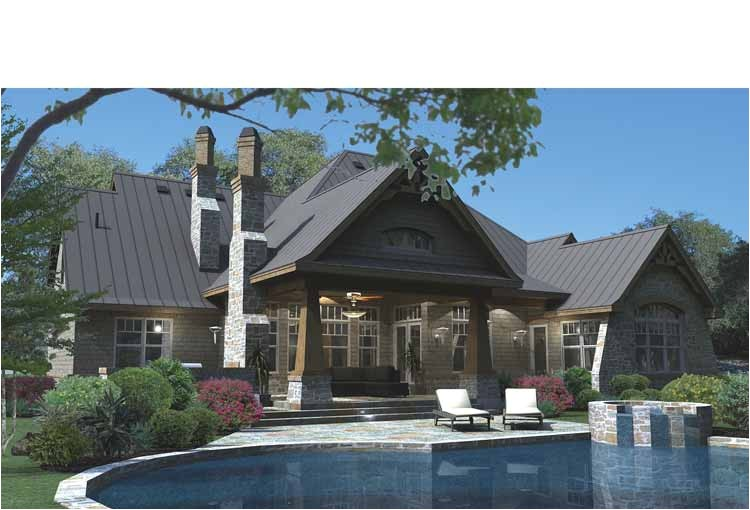 unique house plans with outdoor living 6 extras attic space art niches cabinets plant shelves columns inside