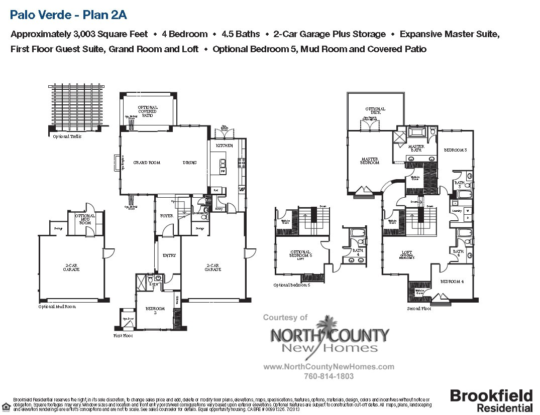 Palo Verde Homes Floor Plans Floor Plan 2a Palo Verde Carlsbad New Homes