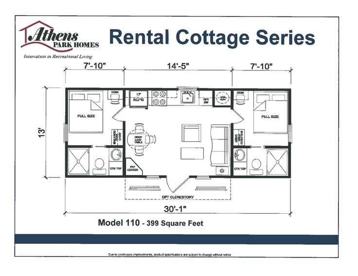 Park Model Homes Floor Plans Floor Plan athens Park Model Home Tiny Home Living