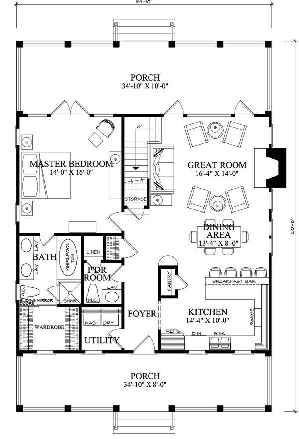 Perfect Design Home Plans First Floor Plan Of Cottage Country Farmhouse House Plan