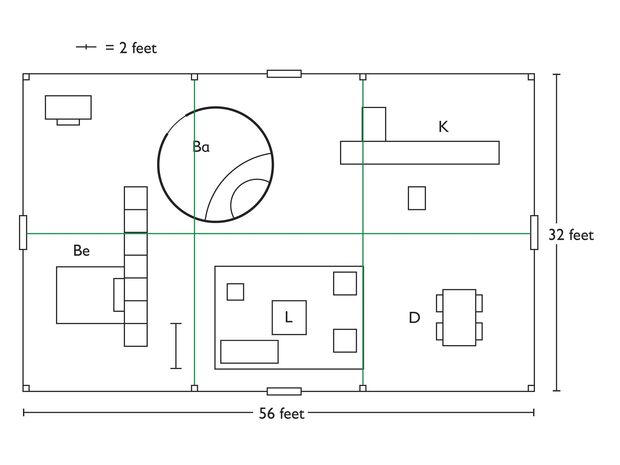 philip johnson glass house floor plan