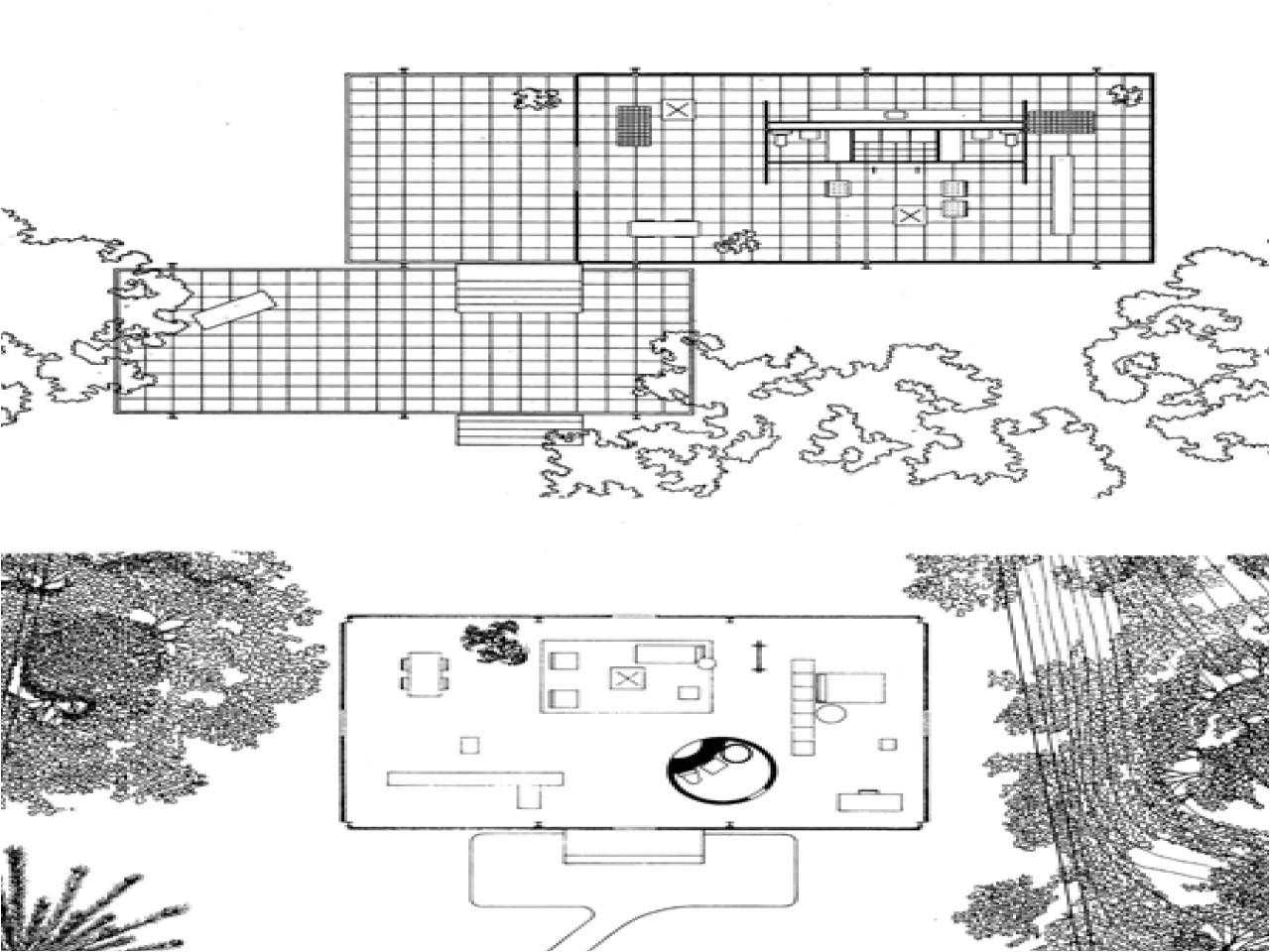 site plan of farnsworth house