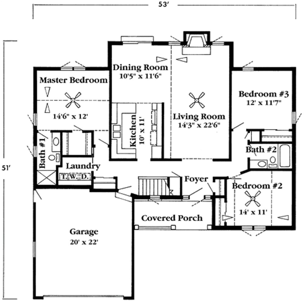 1000 square foot ranch house plans