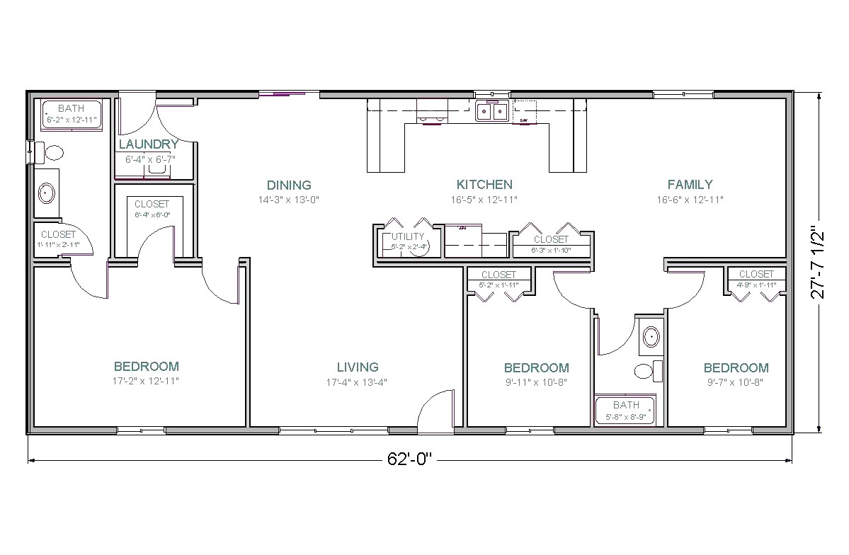 Plan for00 Square Feet Home 1800 Sq Ft House Plans 2 Bedroom