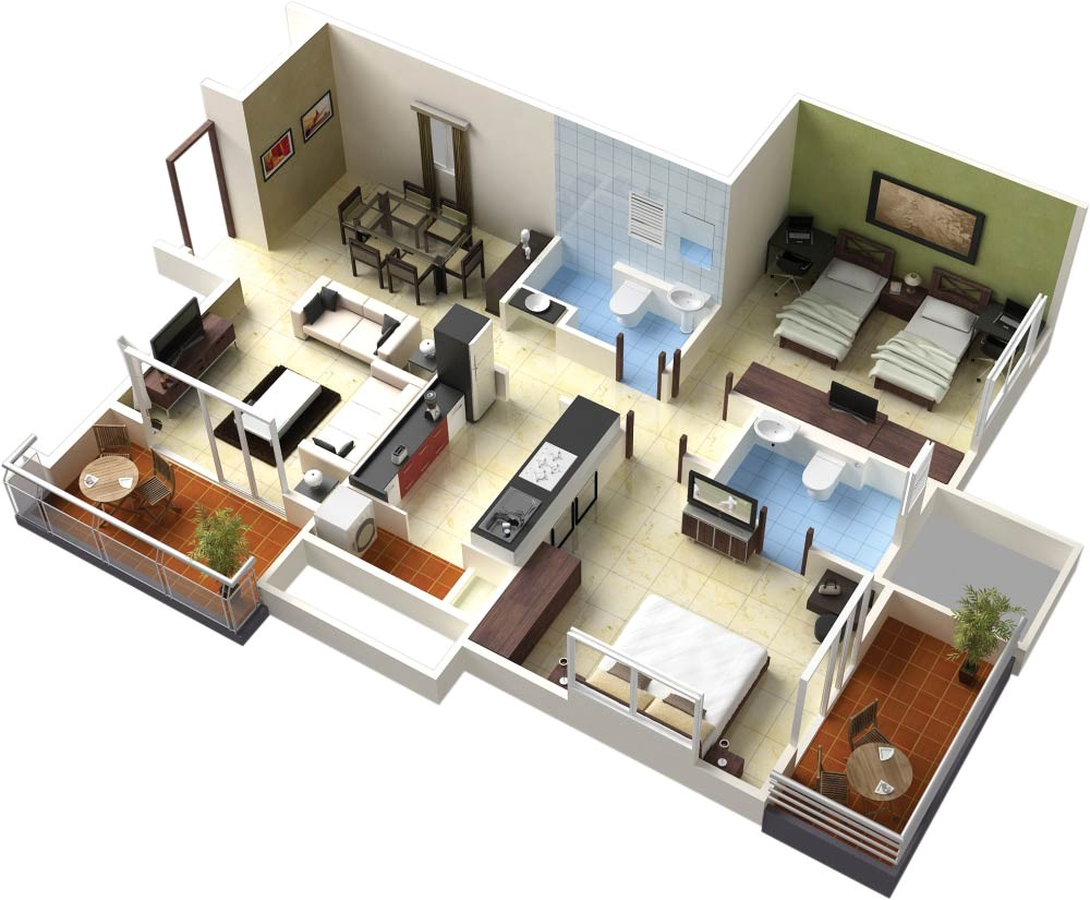 Plan Home 3d Bedroom Position In Home Design Plans 3d This for All