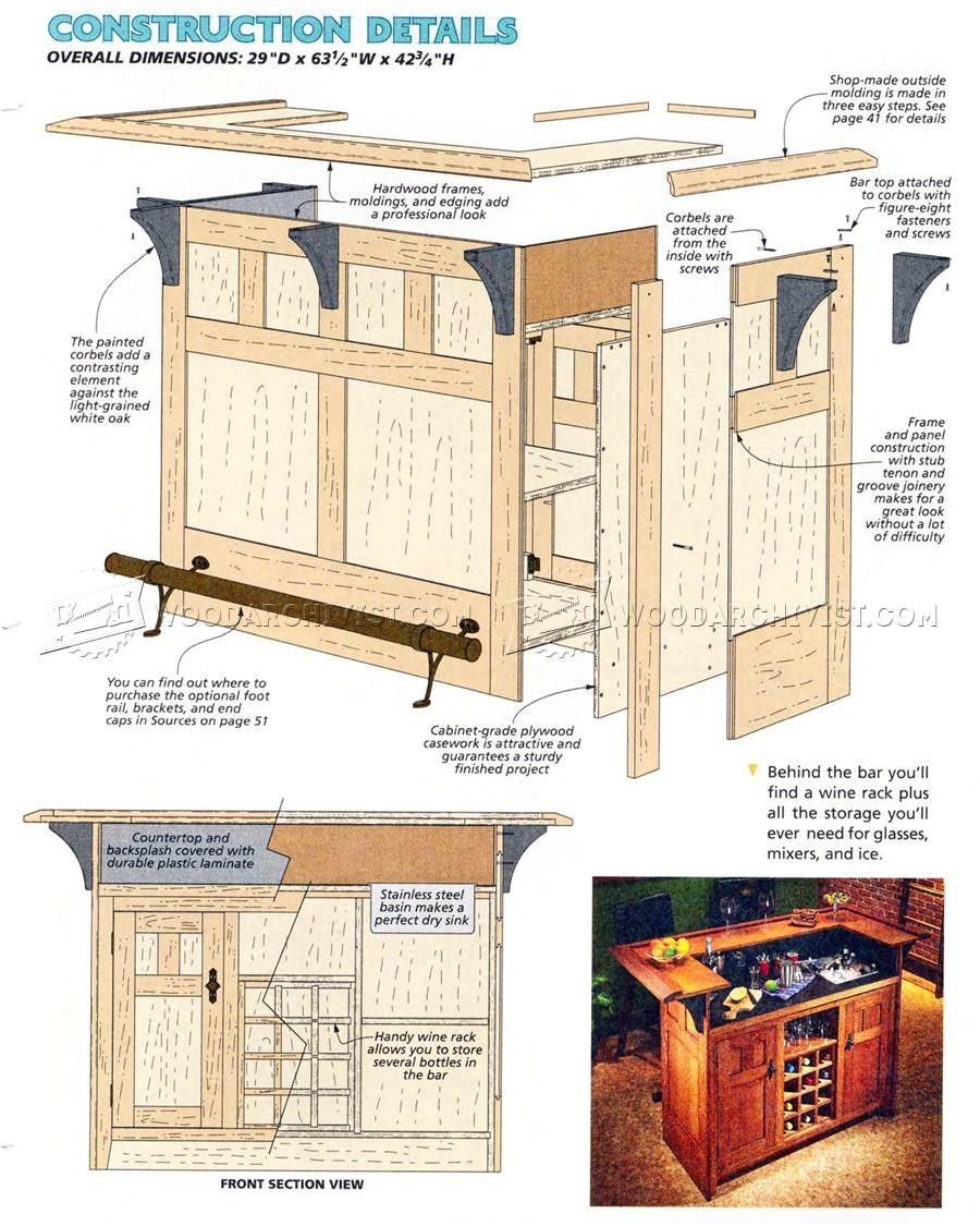 Plans for A Home Bar Home Bar Plans Woodarchivist